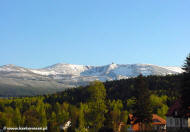 Widok z Michałowic na Śnieżne Kotły